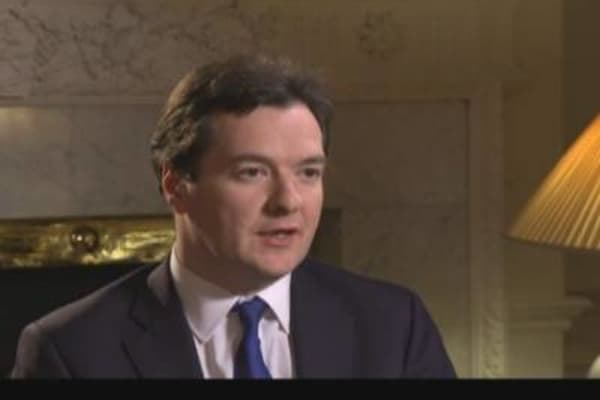 UK's Osborne on Eurozone