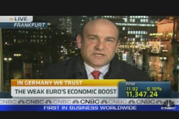 Weak Euro's Economic Boost