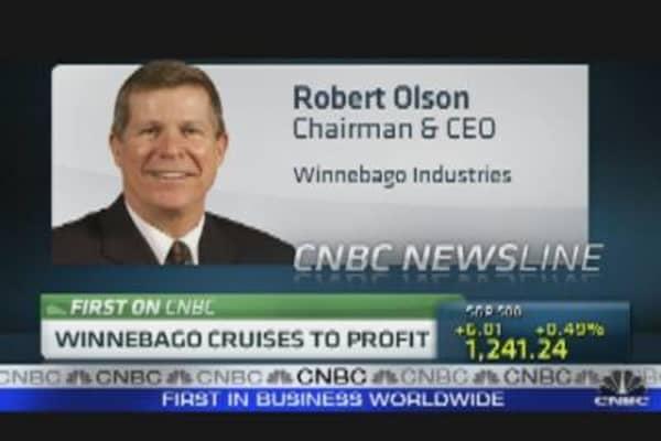 Winnebago Cruises to Profit