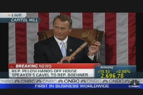 Boehner's Delivers First Speech as House Speaker