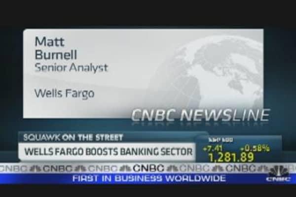Wells Fargo Boosts Banking Sector