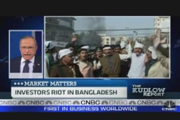 Investors Riot in Bangladesh