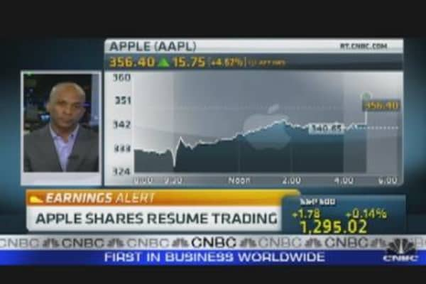 Apple Shares Resume Trading