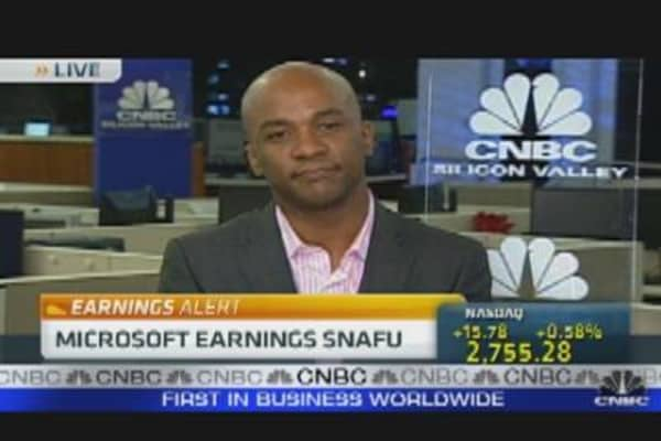 Microsoft Earnings Snafu