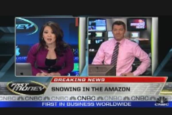 Snowing in the Amazon