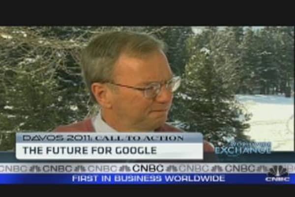 Google's Schmidt on His New Role