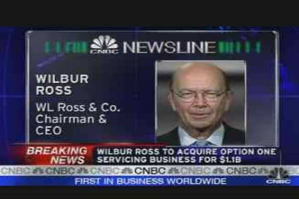 Wilbur Ross to Acquire Option-One