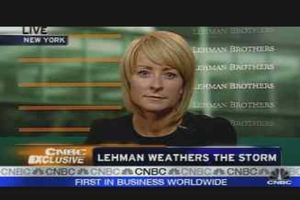 Lehman Weathers the Storm