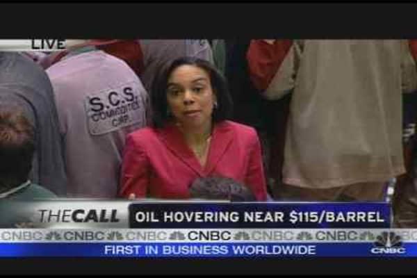 Oil Hovers Near $115/Barrel