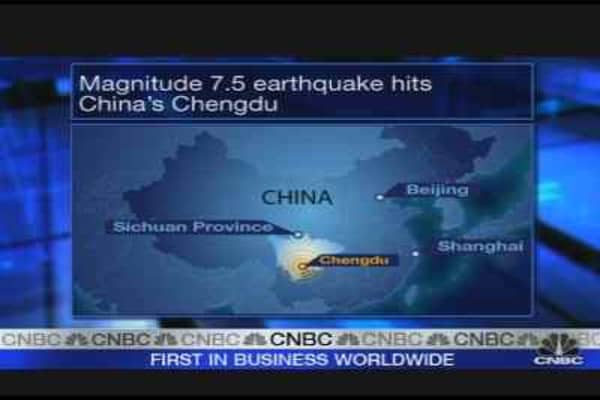 Earthquake Shakes Central China
