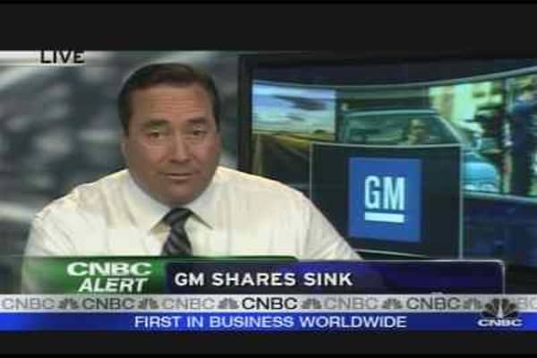 GM Shares Sink