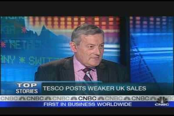 Tesco Sales Decline