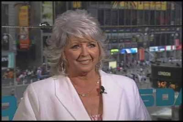 Paula Deen Rings The Closing Bell