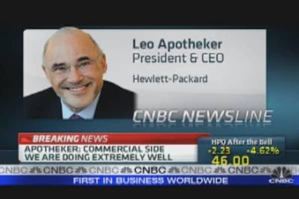 HP CEO on Earnings, Outlook