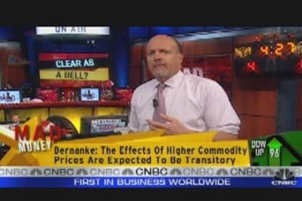 Cramer Lauds Ben Bernanke