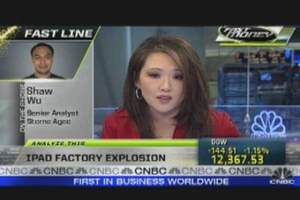 Will iPad Factory Explosion  Delay Production?