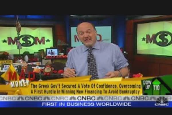 Cramer Sounds Off on Greece