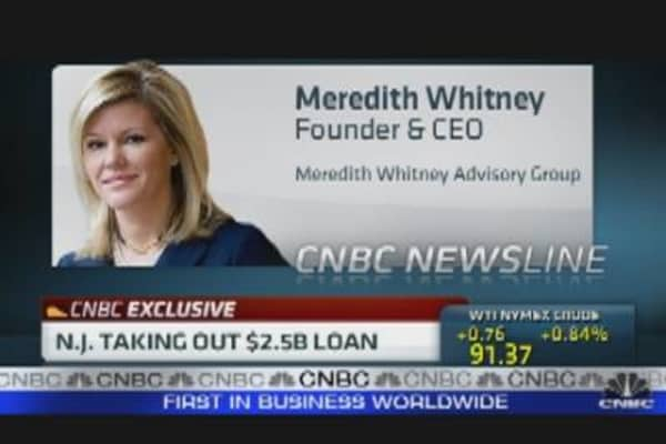 Meredith Whitney: New Jersey's $2.5B Loan