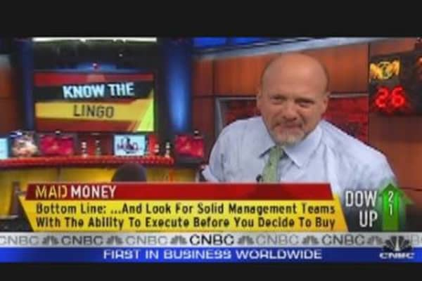 Know the Lingo, says Cramer