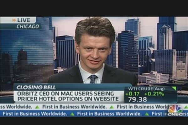 Orbitz CEO on Mac Users Seeing Pricier Hotels