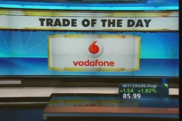 Trade of the Day: Vodafone Trading Higher