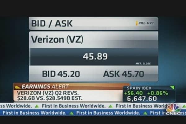 Verizon Report Q2 Earnings