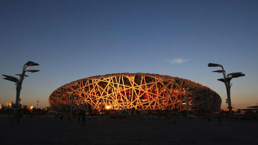 Birds Nest Stadium in Beijing, China.