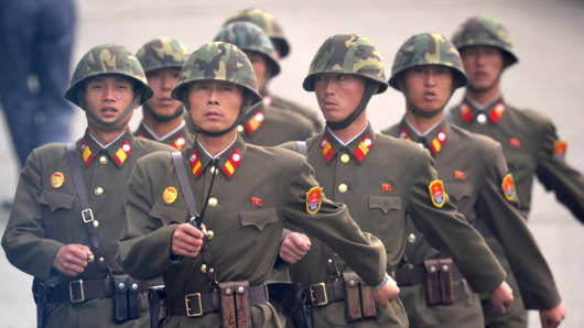 North Korean soldiers.