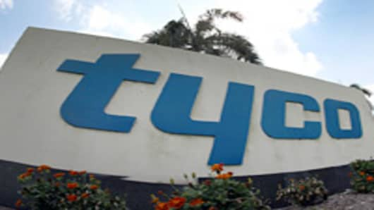 Tyco International Ltd. signage is displayed outside of the company's offices in Boca Raton, Florida, U.S.
