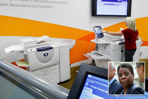 CEO: Ursula BurnsCompany value: $9.915 billionIn 2009, Ursula Burns became the first African-American woman CEO of a Fortune 500 company. She joined Xerox, which provides document printing copying, transportation and management systems services, in 1980 as an intern in mechanical engineering. The company employs more than 140,000 people and has clients in more than 160 countries. In 2010, President Barack Obama appointed Burns vice chair of the President's Export Council.