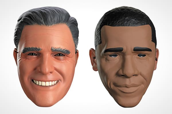 Suggested Price: $16.99 and up With the election looming, more than 767,000Halloween party-goers are expected to wear some sort of political costume, according to NRF's survey, conducted by the firm BIGinsight. This means President Barack Obama and Mitt Romney will be going head-to-head at the costume shop, as well as at the polls. Some costume retailers suggest that mask purchases may even predict the outcome of the election. Of course, not everyone uses their costume choice to express their po