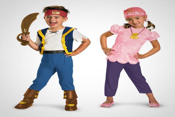 "Suggested Price: $19.99 to $34.99 Pirates are a popular theme, and typically rank within the top 10 each year. Fans of Disney's ""Jake and the Neverland Pirates"" may want to check out the costumes for Jake and Izzy that are new this year. Accessories, sold separately, include a soft sword and a treasure-chest-shaped treat pail."