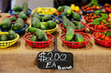 Produce is displayed for sale at the San Diego Public Farmers Market.