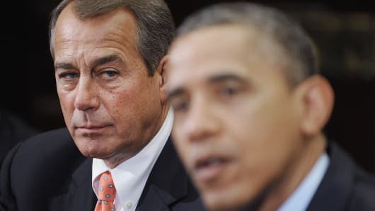Speaker of the House John Boehner and President Barack Obama in 2012.