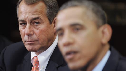 Speaker of the House John Boehner and President Barack Obama in 2012.