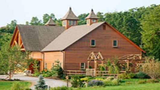 The main building at Wegmans research farm.