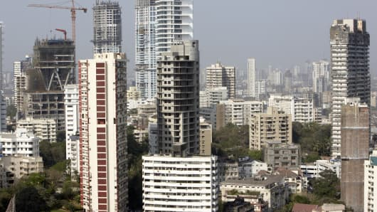 Construction in Mumbai, India.