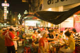 Night market in Soi Texas, Chinatown, Thailand.