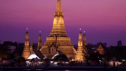 Wat Arun in Bangkok, Thailand.