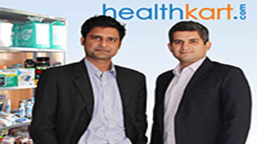 Sameer Maheshwari and Prashant Tandon, co-founders of HealthKart.com