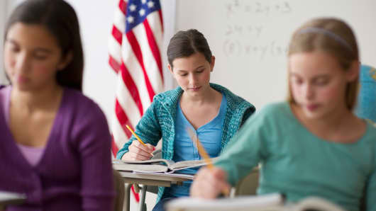 American high school students
