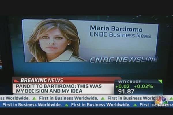 Pandit to Bartiromo: Exit 'Not Abrupt'