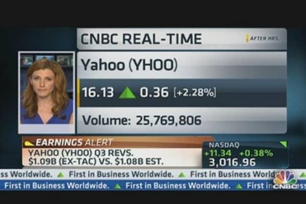 Yahoo Q3 EPS $0.35 vs. $0.25 Est.