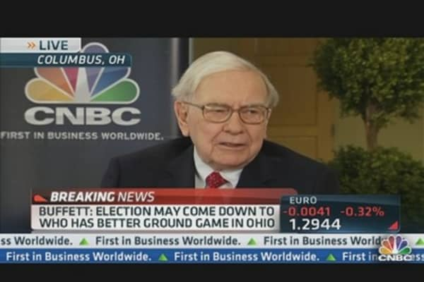 Buffett: Election Comes Down to Who Has Better Ground Game