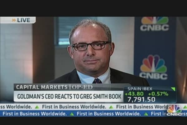 Goldman's CEO Reaction to Greg Smith's Book