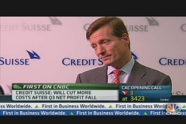 Credit Suisse Profit Falls Below Expectations