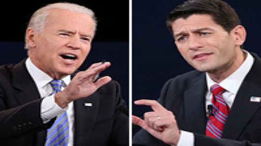 Vice President Joe Biden and Republican vice presidential candidate Paul Ryan