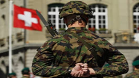 Swiss Prepare Army for Euro Zone Fallout