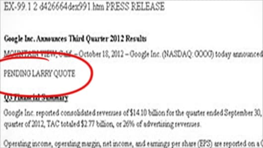 Google Earnings, Revenue Miss Wall Street Forecasts