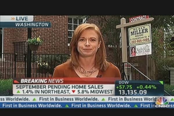 September Pending Home Sales Flat